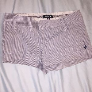 Striped hurley shorts